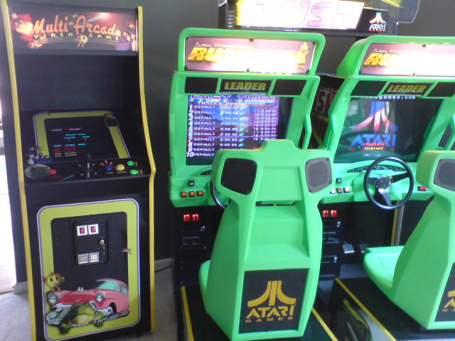 Multi-Arcade Multi-Game and Rush The Rock (2 Player Sit-Down)